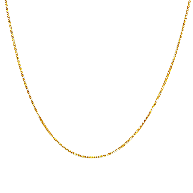 """14K Two Tone Gold 24"""" Wheat Chain 30003774 