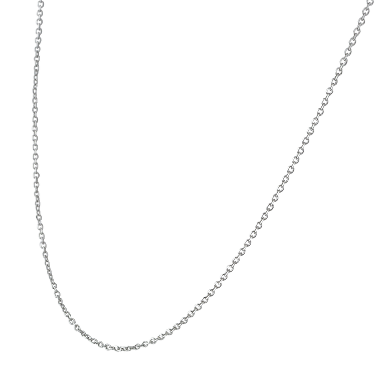 """14K White Gold 18"""" Cable Chain 30003860   Shin Brothers*"""