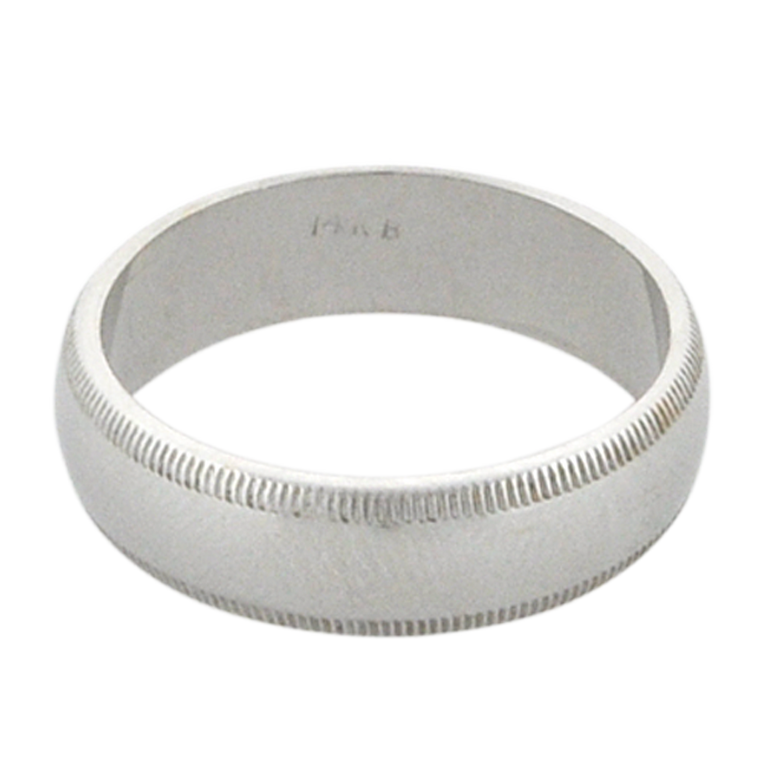 14K White Gold Band 10000610 | Shin Brothers*