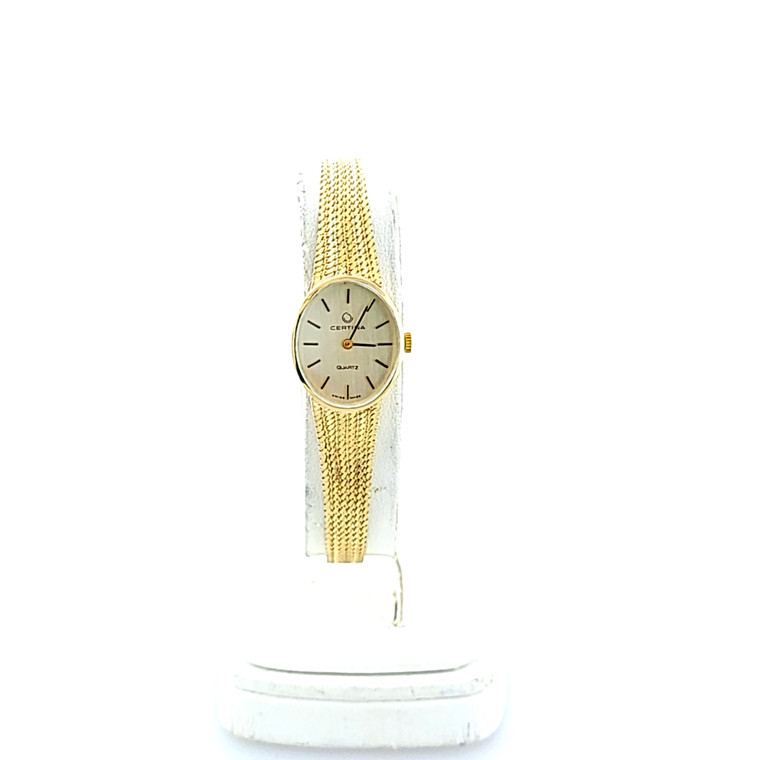 Preowned 18K Yellow Gold Ladies' Certina Watch 69000565 | Shin Brothers*