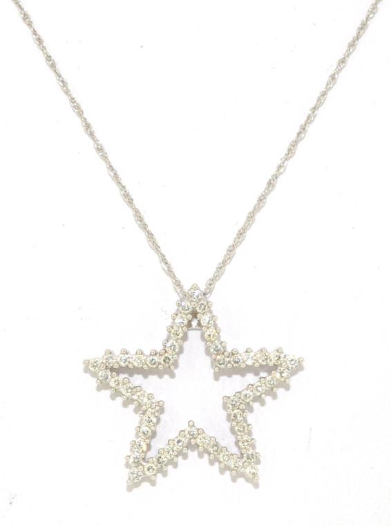 14K White Gold Diamond Star Charm 51000362   Shin Brothers*