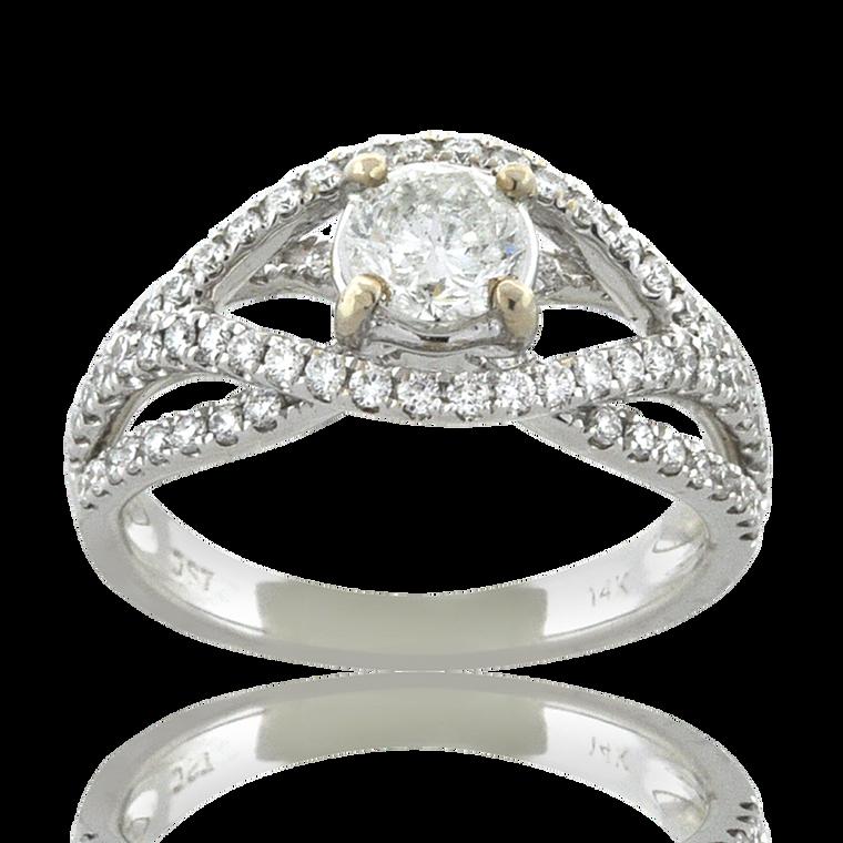 14K White Gold 7/10 ctw Diamond Engagement Ring 11006526   Shin Brothers*