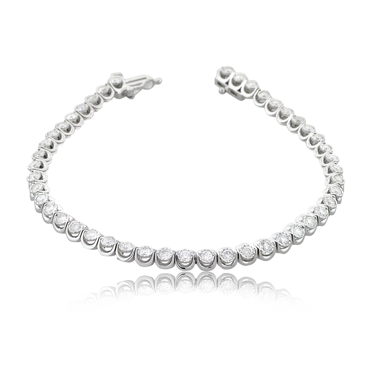 10K White Gold 2 ctw Diamond Tennis Bracelet 29110005 | Shin Brothers*