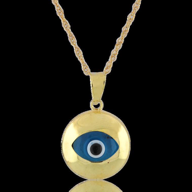 14K Yellow Gold Evil Eye Charm 52002129 | Shin Brothers*