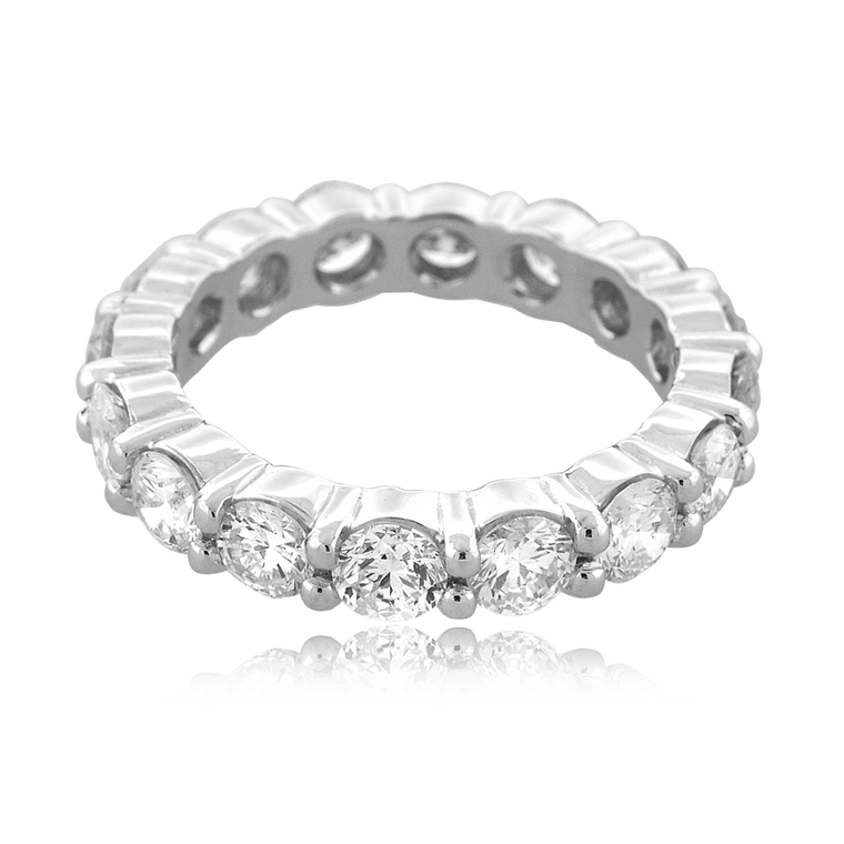 14K White Gold 2.95 ctw Diamond Eternity Band 11006556 | Shin Brothers*