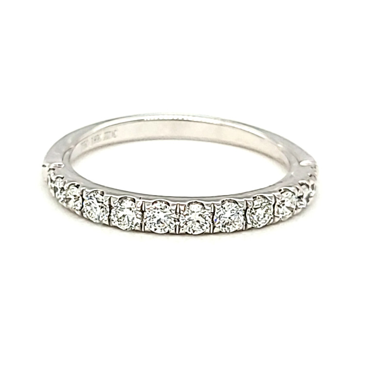 18K White Gold Diamond Band 11006600 | Shin Brothers*