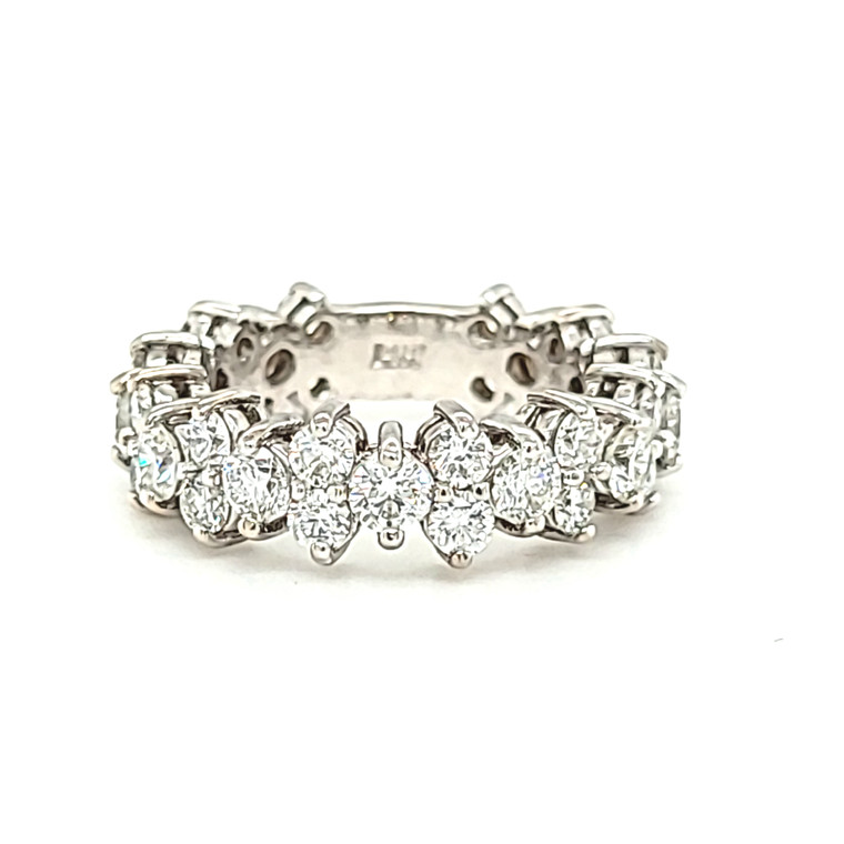 14K White Gold 3 1/3 ctw Diamond Floral Band 11006595 | Shin Brothers*