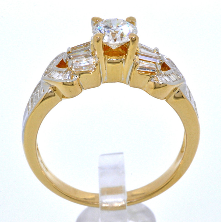 18K Yellow Gold 1.06 total carat weight Diamond Engagement Ring 11001648   By Shin Brothers*