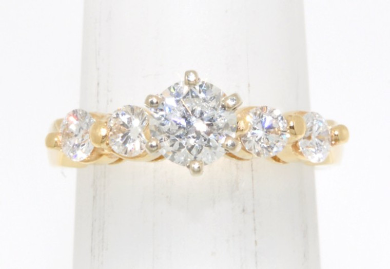 14K Yellow Gold 0.74 ct Diamond Engagement Ring 11001196   By Shin Brothers*