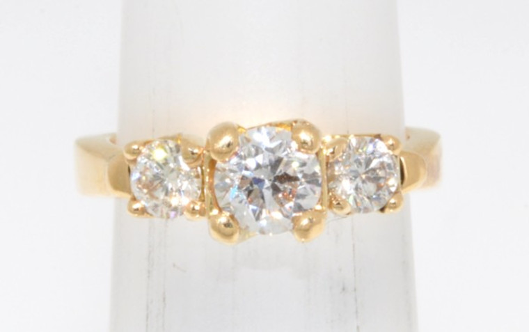 14K Yellow Gold 0.71 ct Diamond Engagement Ring  11001942  By Shin Brothers*