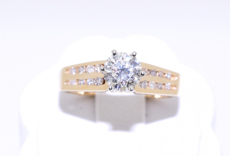 14K Yellow Gold 0.67 ct Diamond Engagement Ring  11003007   By Shin Brothers*