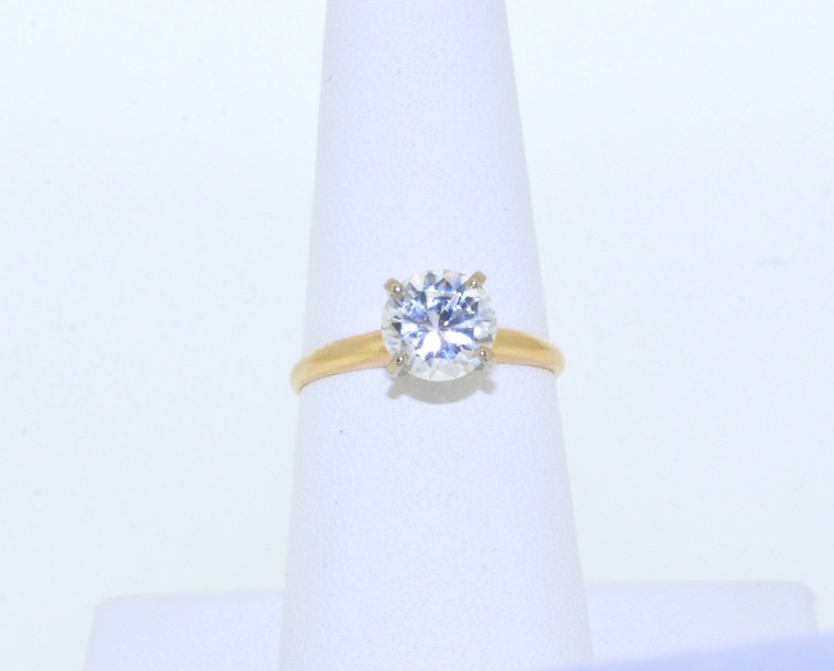 12001912 10K Yellow Gold CZ Ring