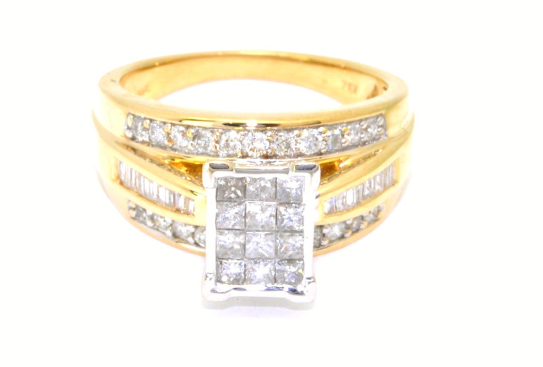 14K Yellow Gold 1.12 ct Diamond Engagement Ring with Band 11003188     By Shin Brothers*