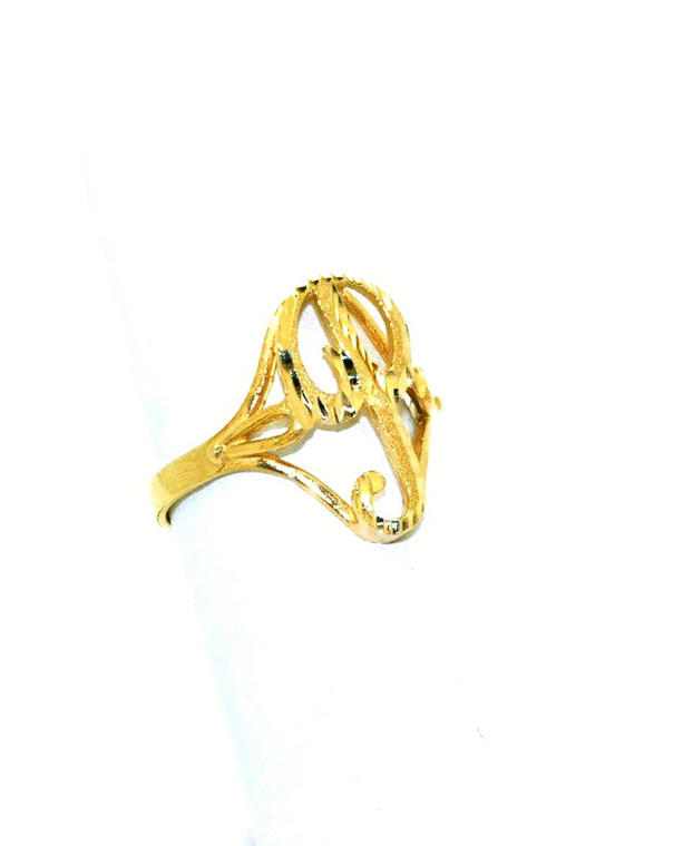 "14K Yellow Gold ""P"" Initial Ring 10016299 By Shin Brothers*"