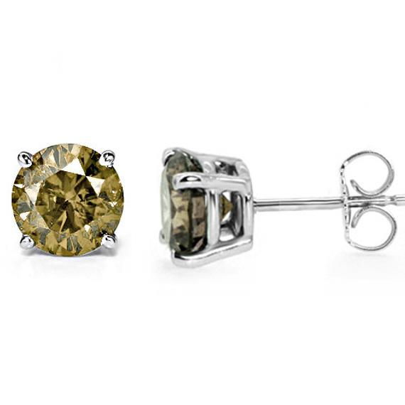 14k White Gold 0 5ct Brown Diamond Stud Earrings 41060726 Shin Brothers