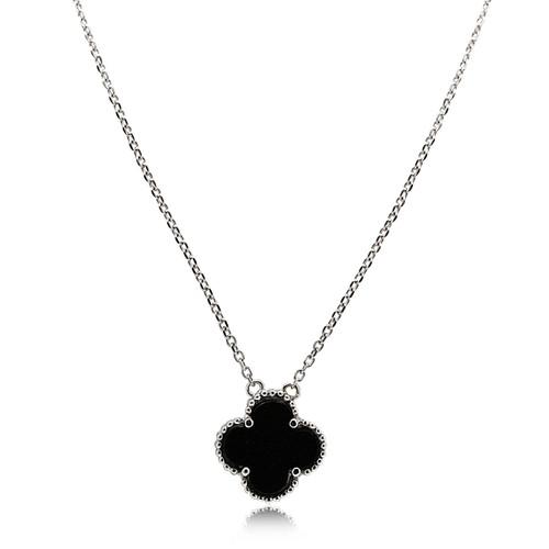 25 mm Clover Pendant Jewels Obsession 14K White Gold Shamrock