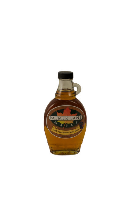 8 oz Maple Syrup Bottle with Palmer Lane Maple Logo