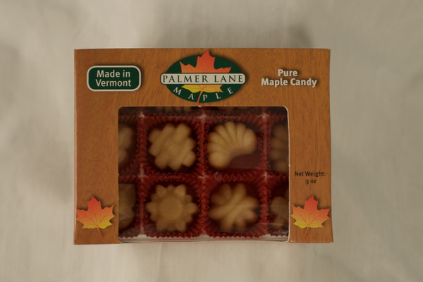 Maple Sugar Candy - 12 Pieces of Fancy Shapes - 3 oz Pure Maple Candy