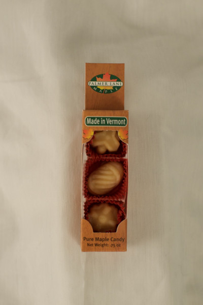 Maple Sugar Candy - 3 Pieces of Fancy Shapes - 0.75 oz Pure Maple Candy