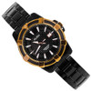 Alba Quartz Sports Black Rose Gold Stainless Womens Watch AXT776X1