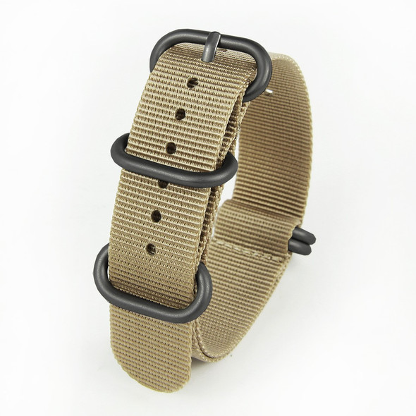 18MM SANDCASTLE TAN NYLON ZULU STRAP