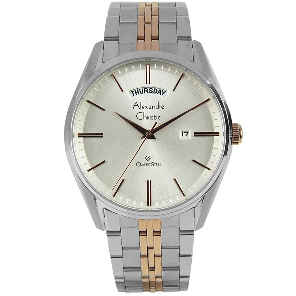 8588MEBTRSL Alexandre Christie Classic Steel Watch