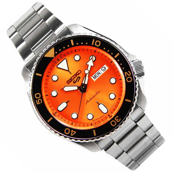 Seiko 5 Sports Automatic Orange Dial Male Watch SRPD59K1 SRPD59