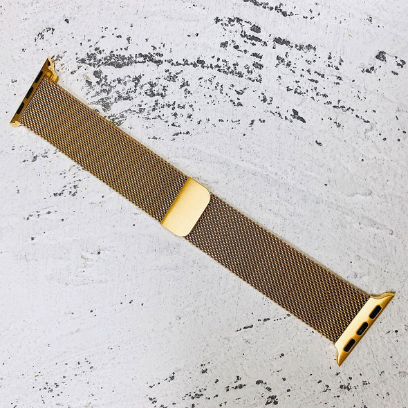38mm Gold Milanese Loop Band