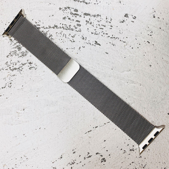 38mm Silver Milanese Loop Band