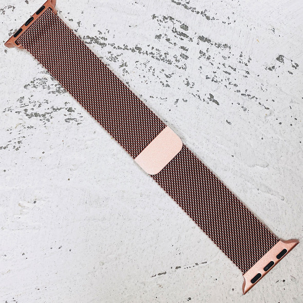 42mm Rose Gold Milanese Loop Band