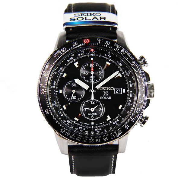 SSC009P3 Seiko Solar Chronograph Pilot Mens Watch
