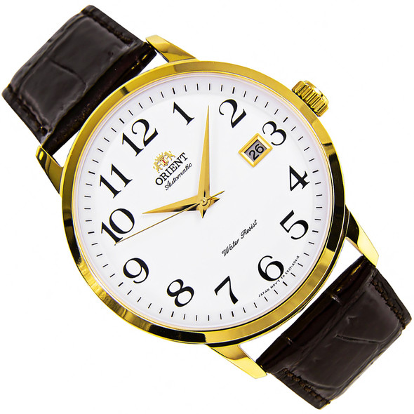Orient Symphony Leather Automatic White Dial Mens Watch ER27005W