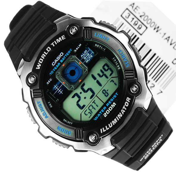 Casio Quartz Alarm Digital Sports Watch AE-2000W-1AVDF