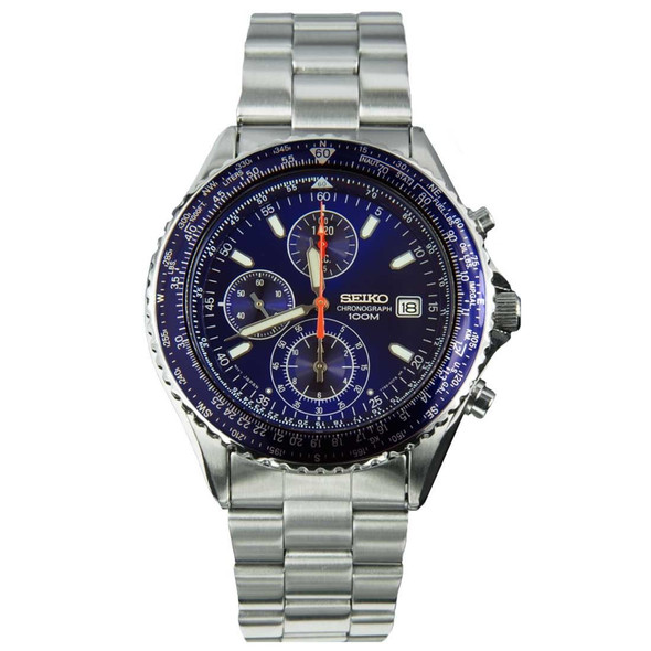 SND255P1 SND255 Seiko Pilot Chronograph Flightmaster Watch