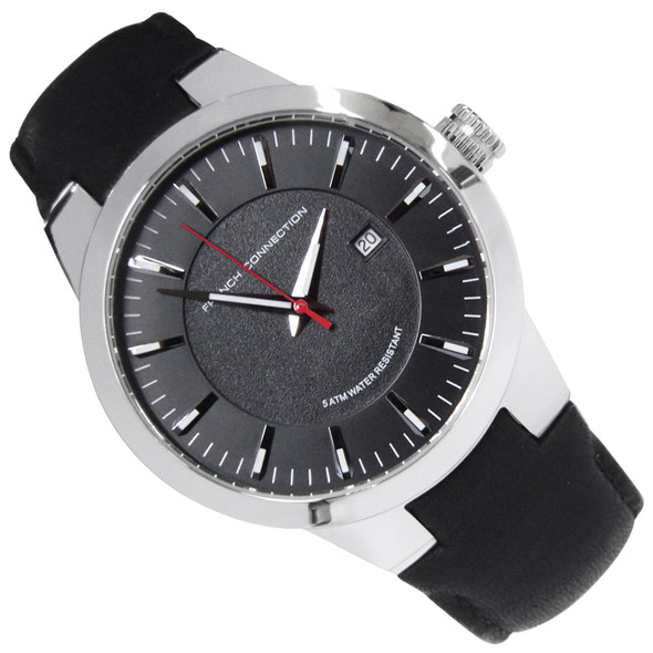 French Connection Analog Quartz Mens Dress Black Watch FC1208B