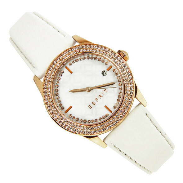 Esprit Quartz Jasmine Cream Leather Ladies Dress Watch ES107452002