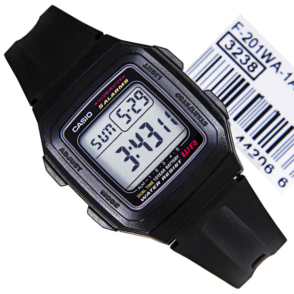 Casio Digital Mens Watch F-201WA-1ADF