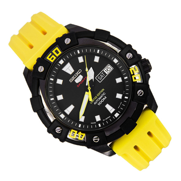 Seiko 5 Sports Limited Edition Yellow Automatic Sports Watch SRP509J1