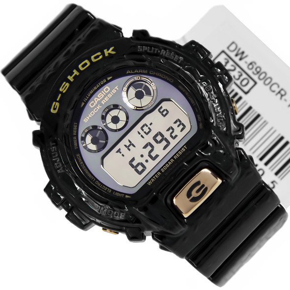 Casio G-Shock WR200m Black Mens Digital Watch DW-6900CR-1DR DW6900CR