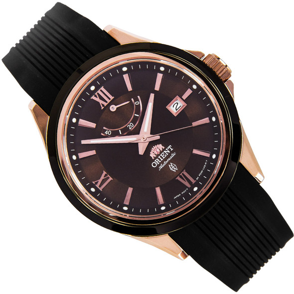 Orient Brown Dial Analog WR100m Automatic Mens Sports Watch FD0K001T