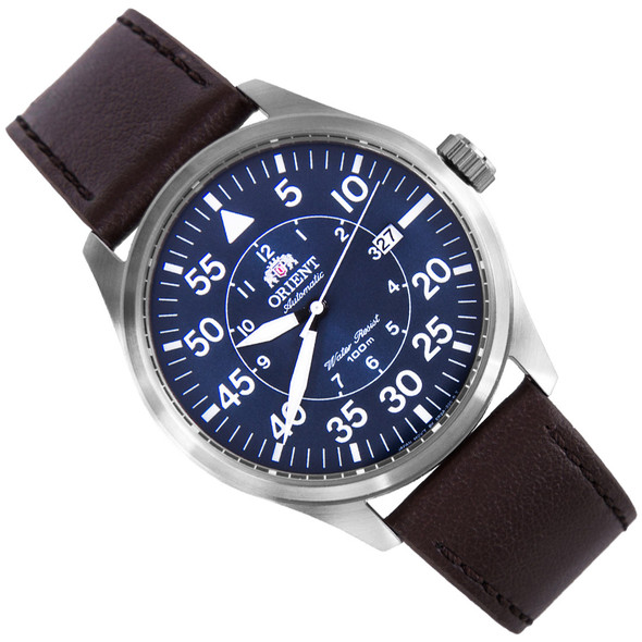 Orient Automatic Flight Pilot Blue Dial Mens Watch FER2A004D0 ER2A004D