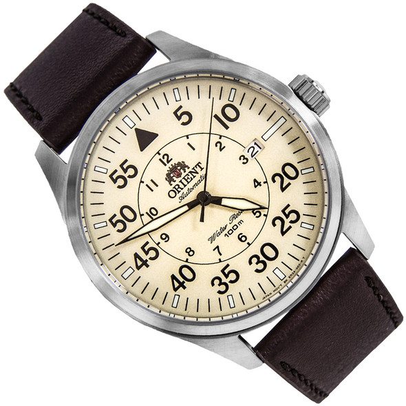 Orient Automatic Flight Pilot Cream Dial Mens Watch FER2A005Y0 ER2A005Y