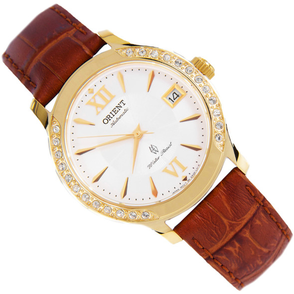 Orient Zirconia Crystals White Dial Automatic Womens Watch ER2E003W