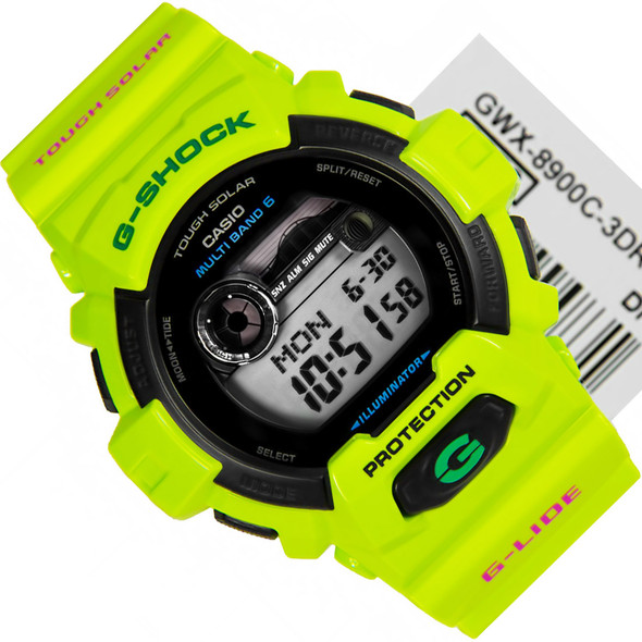 Casio Neon Green Tough Solar G-Shock Surfer Watch GWX-8900C-3 GWX8900C