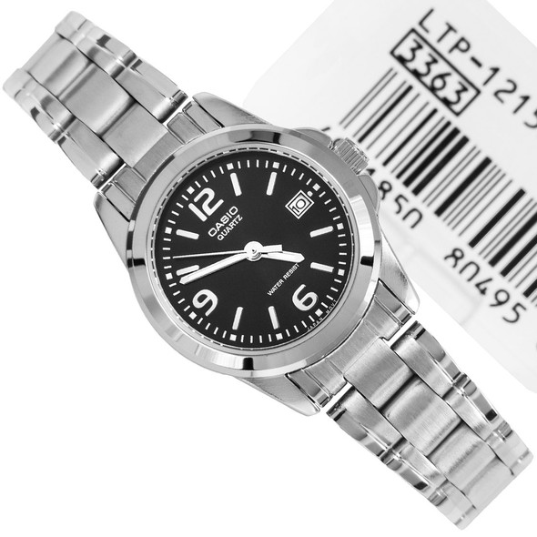 Casio Black Dial Stainless Steel Ladies Watch LTP-1215A-1A LTP1215A
