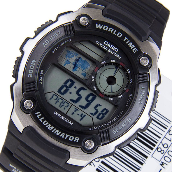 Casio Digital Quartz Watch AE2100W AE-2100W-1 AE-2100W-1AV