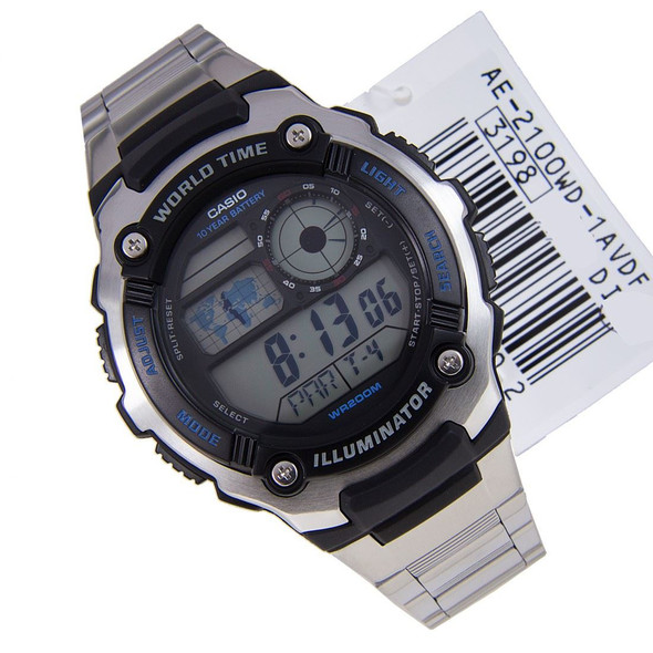 Casio Digital World Time Watch AE-2100WD-1AV AE-2100WD-1A