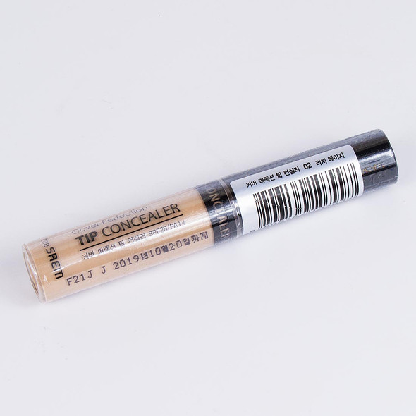 THE SAEM COVER PERFECTION TIP CONCEALER 02 RICH BEIGE 8806164107997