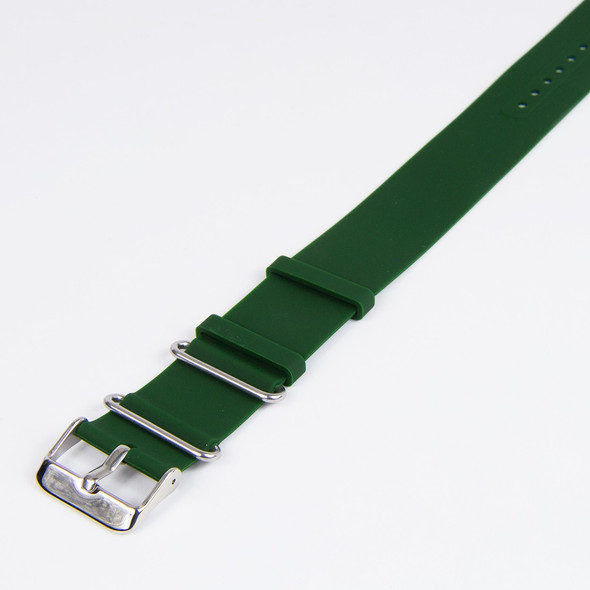 22mm Plain Green ZULU Rubber Strap