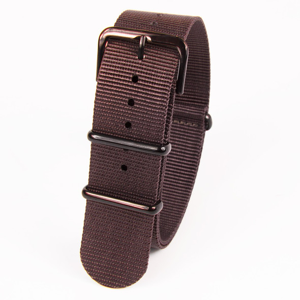22mm Brown Nylon Strap
